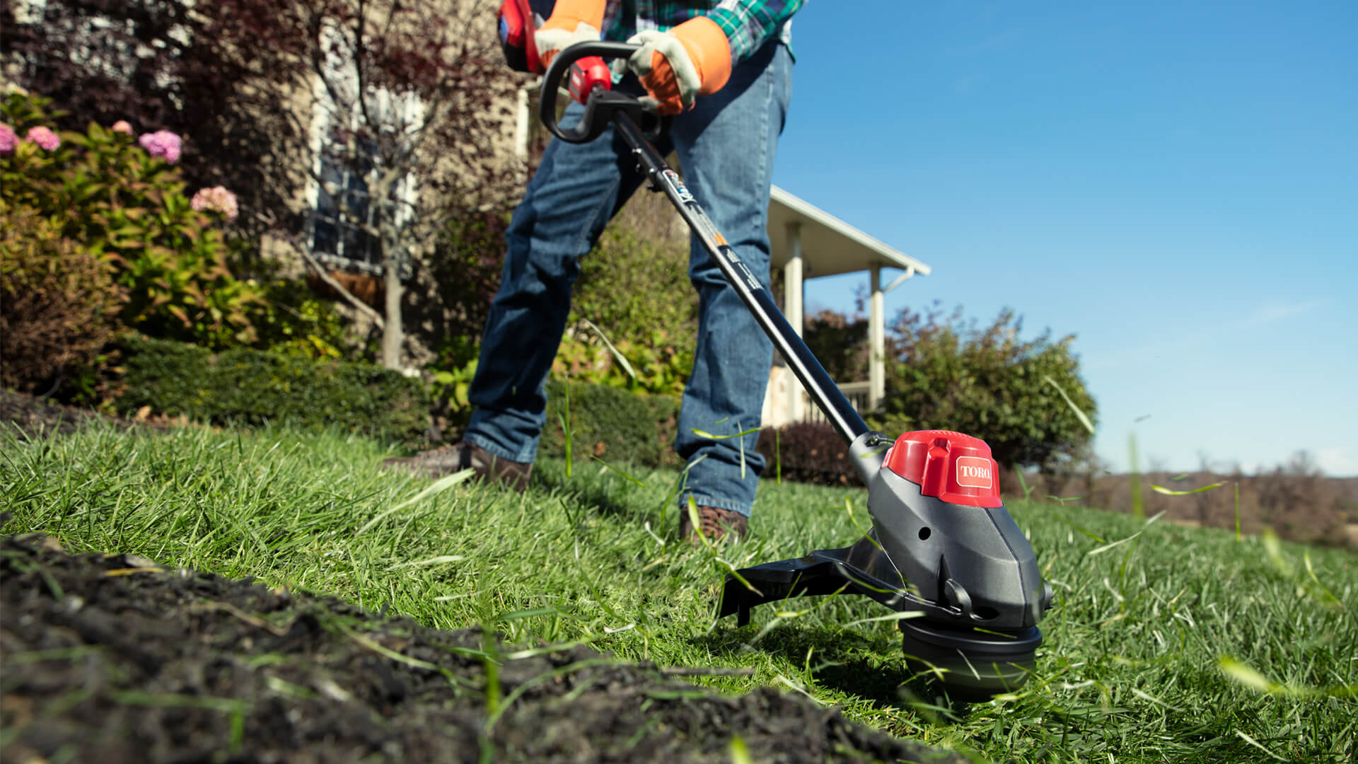 Toro String Trimmer in action
