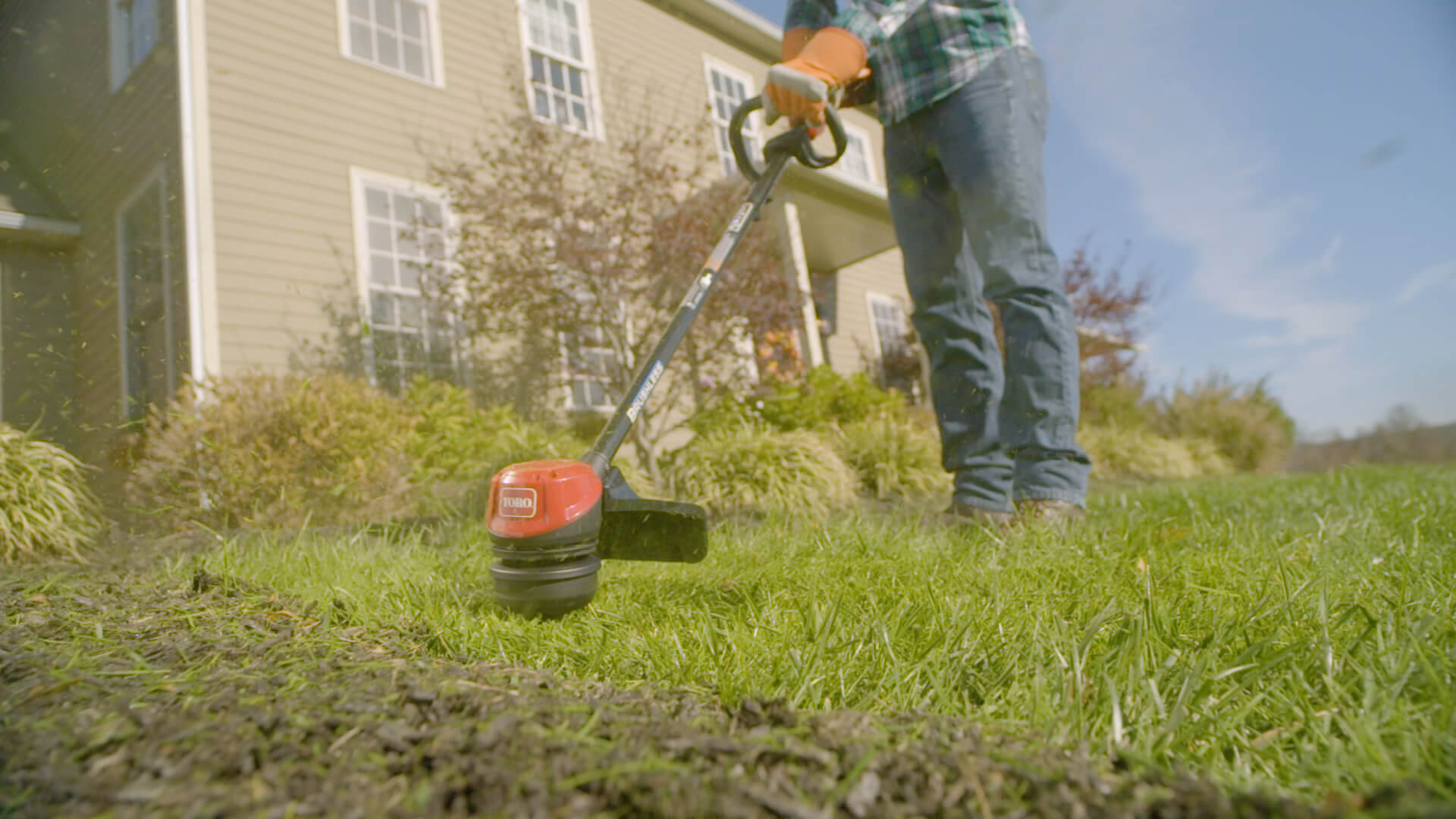 Toro String Trimmer being used