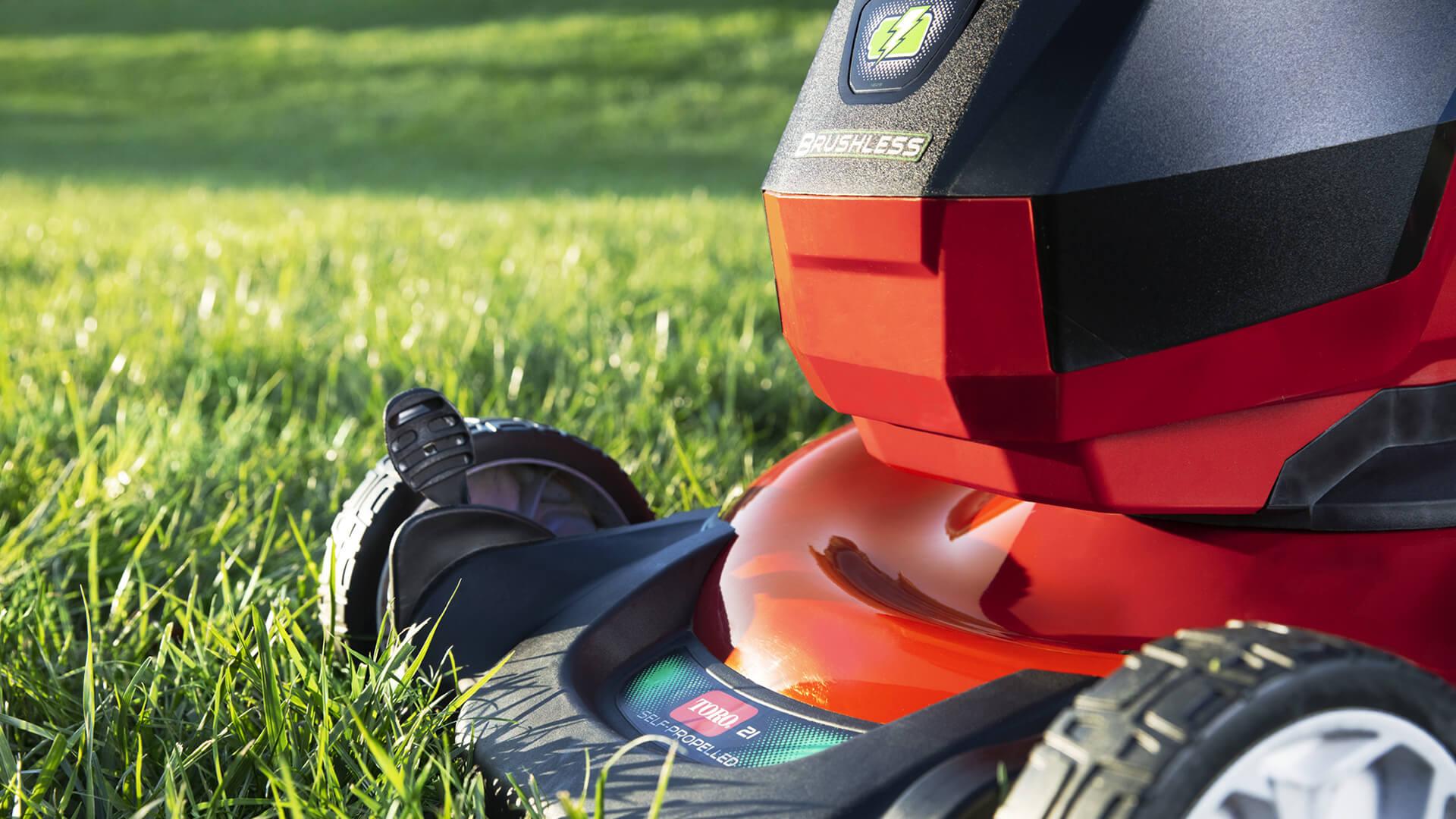 mower in grass