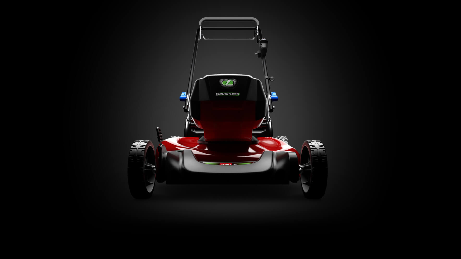 front facing view of mower