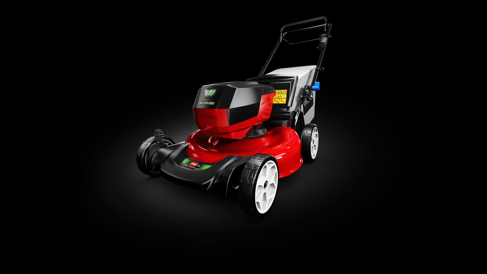 rotated side view of mower