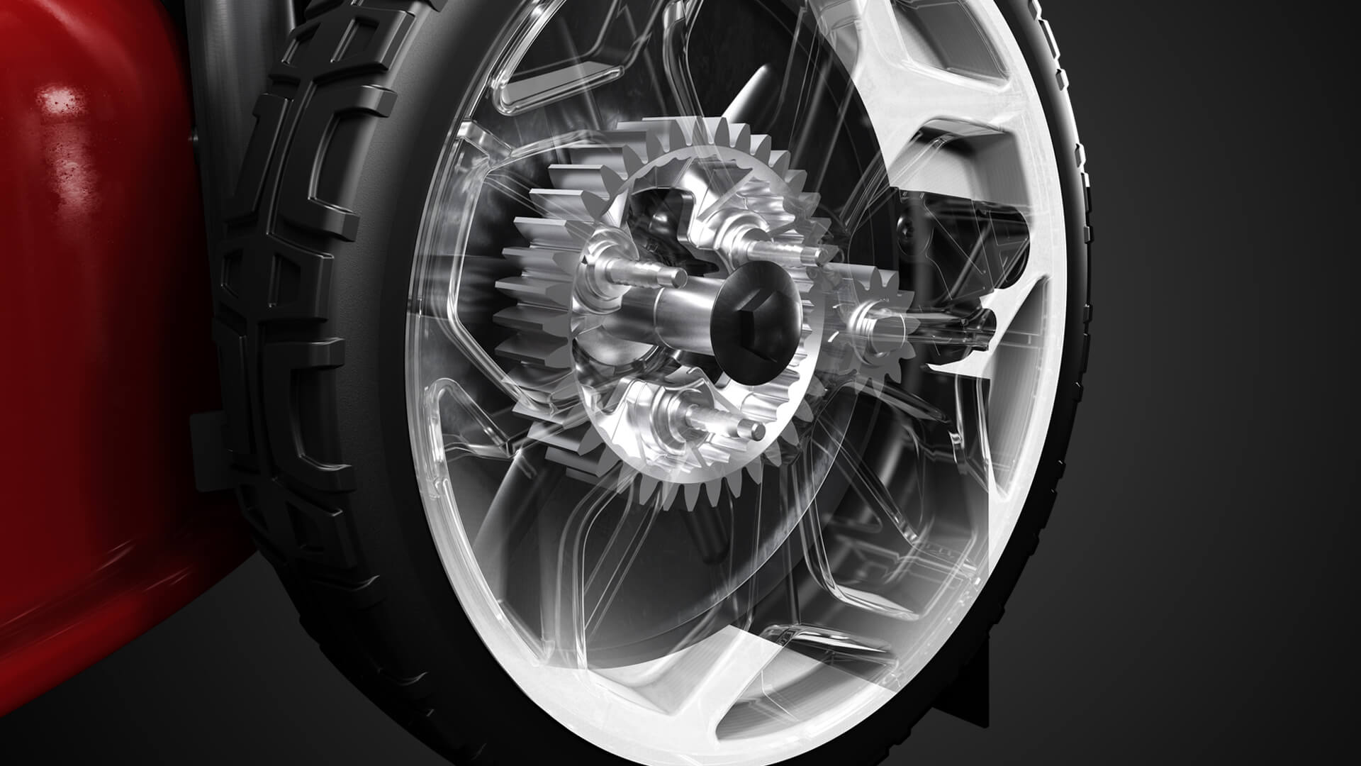 close up of wheel