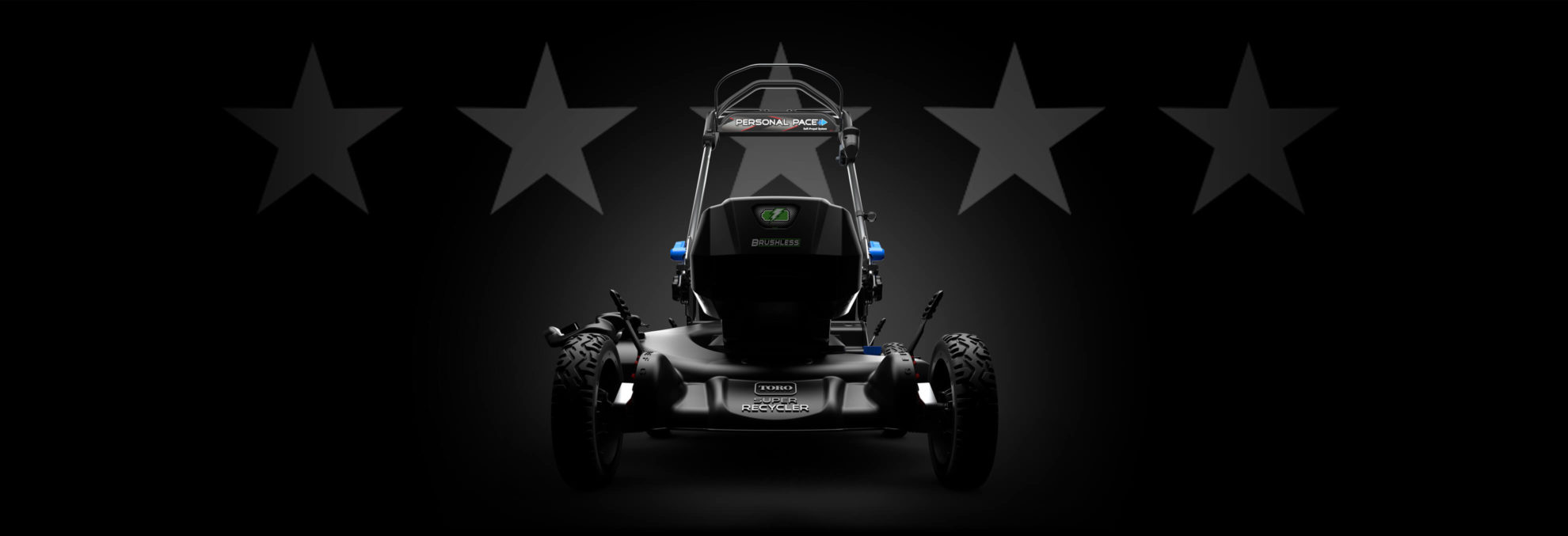 mower with review stars
