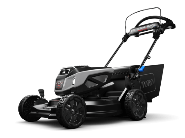 Side view of mower